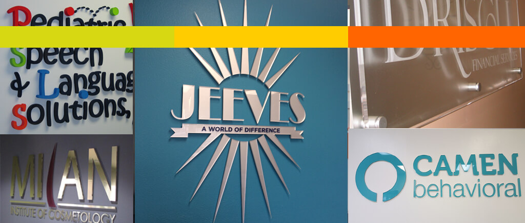 Put Office Logo Signs in Your Reception Area!