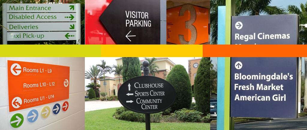 Exterior Wayfinding Signs for Winter Garden FL