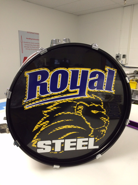 Vinyl drum covers for school bands Orlando