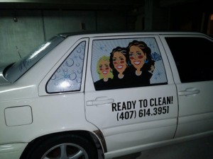 Vehicle vinyl Window Perf Winter Garden FL