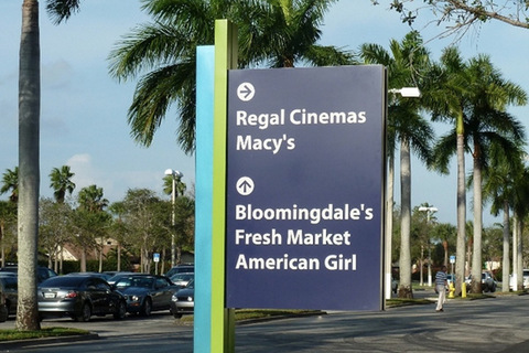Shopping Mall Directional Signs Orlando
