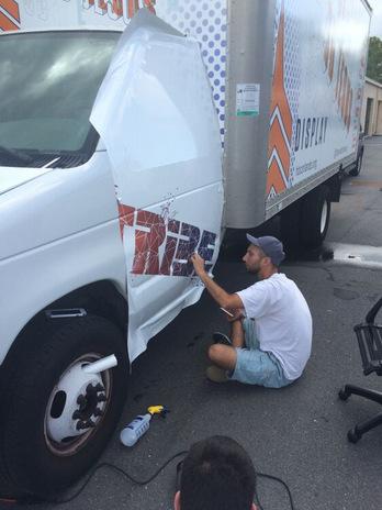 Vehicle wrap installation Orlando