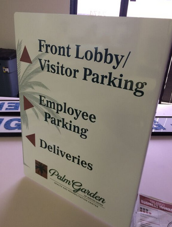 Healthcare Wayfinding Signs Direct At Palm Garden Of Winter Haven Fl