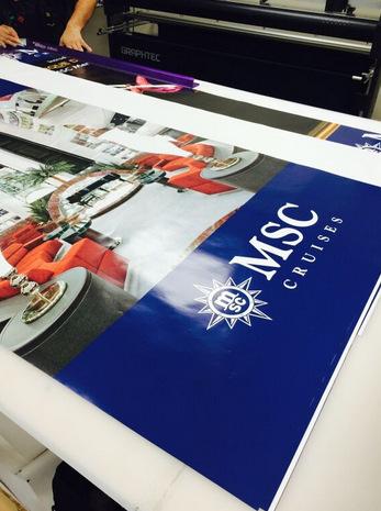 Trade show graphics for cruise ship expos