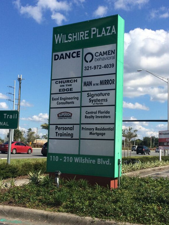 Tenant panel inserts for pylon signs in Casselberry FL