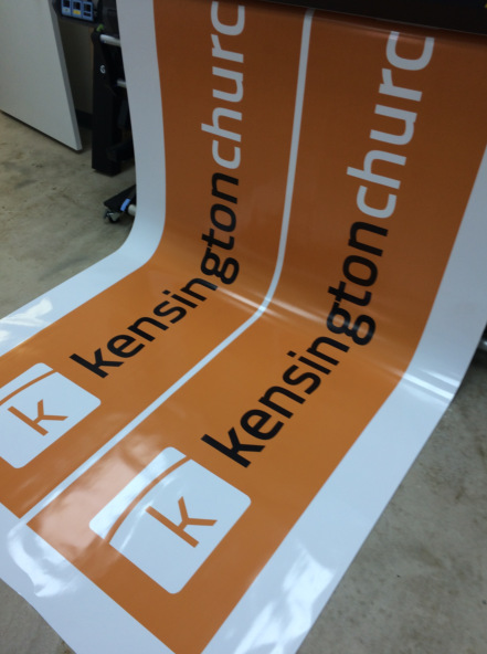 Digitally printing for temporary signage Orlando