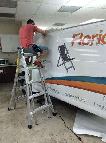 Van Wrap Installation Kissimmee FL