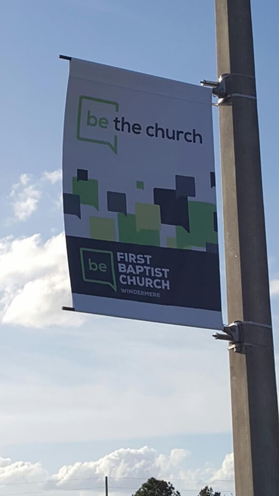 Pole Banners for Churches in Windemere FL