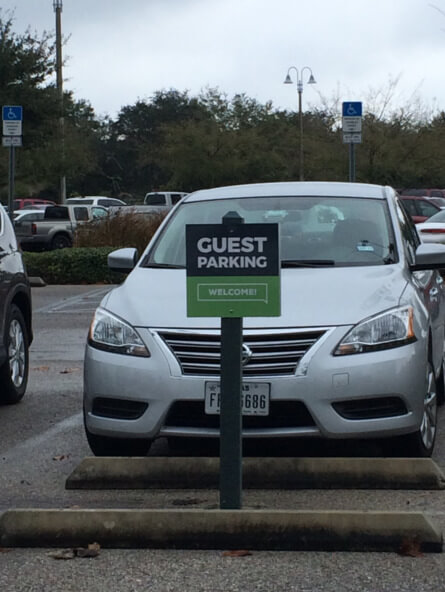 Guest Parking Signs for Churches in Windemere FL