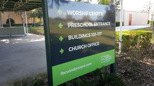 Brand Building Signs for Churches in Windemere FL