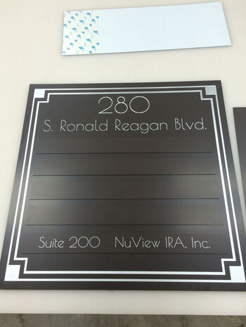 Changeable tenant lobby and suite signs Longwood FL