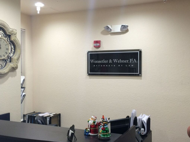 custom lobby sign for law firm in orlando fl citrus sign studio