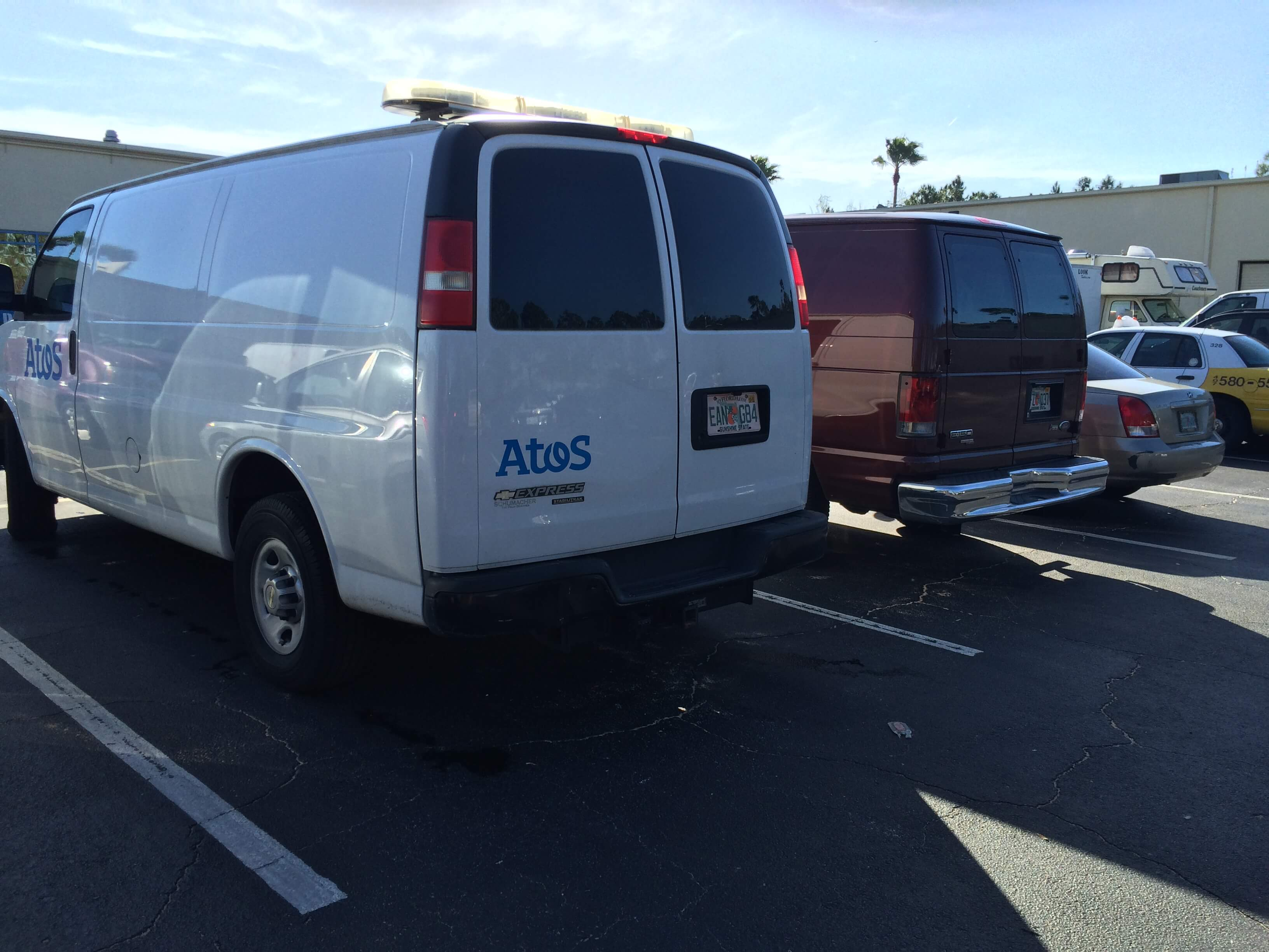 Atos Rebrands with Vehicle Graphics in Orlando!