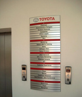 Directory Signs for lobbies in Orlando Fl
