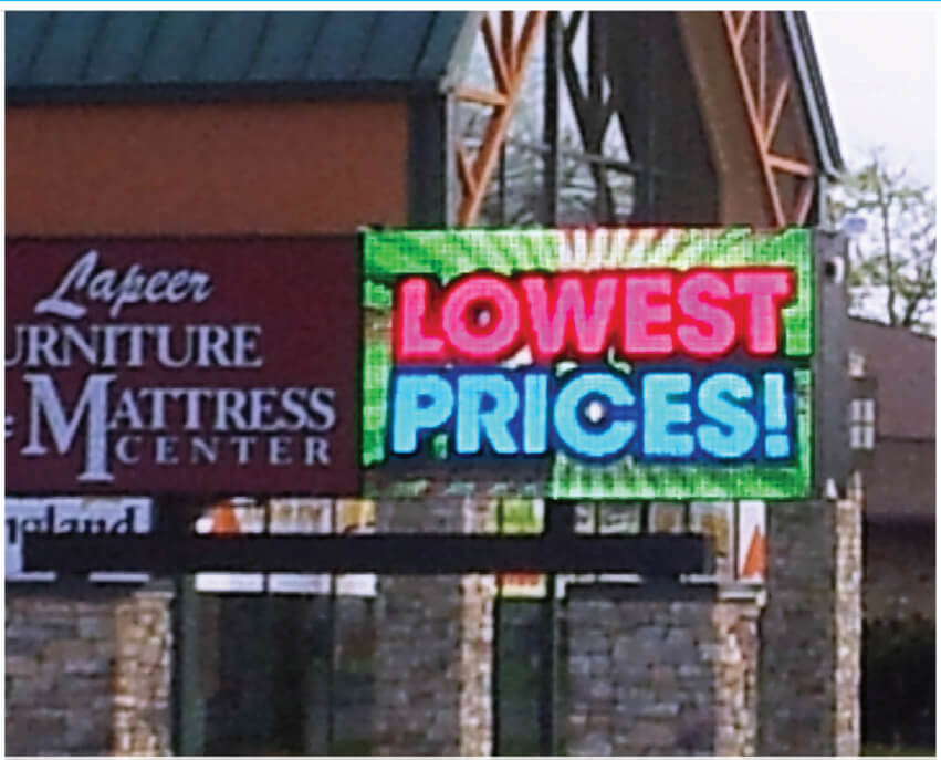 low prices digital sign