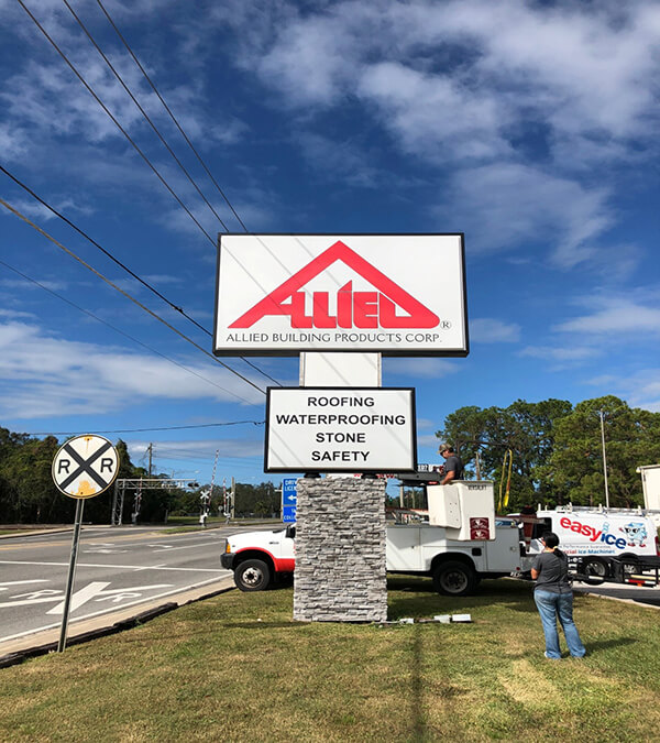 allied hurricane irma sign repair