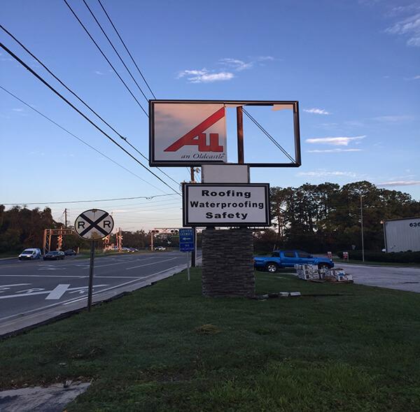 allied hurricane irma sign repair