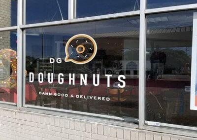 DG doughnuts exterior signage